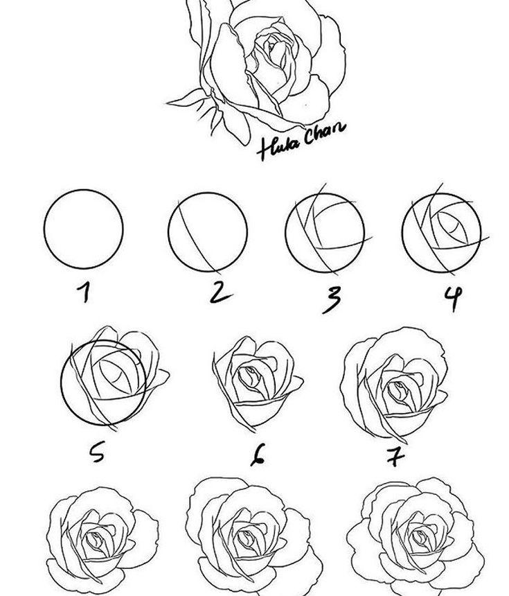 Ураза, как нарисовать розу картинки ну-ка