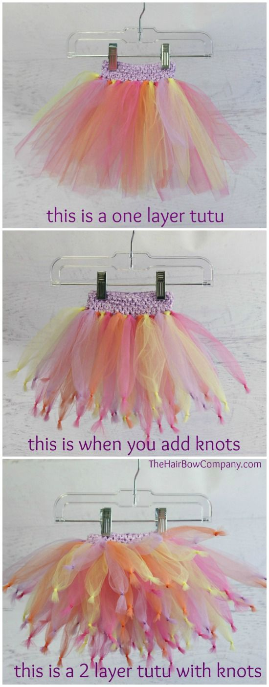 Bright & Funky Knotted Tutu
