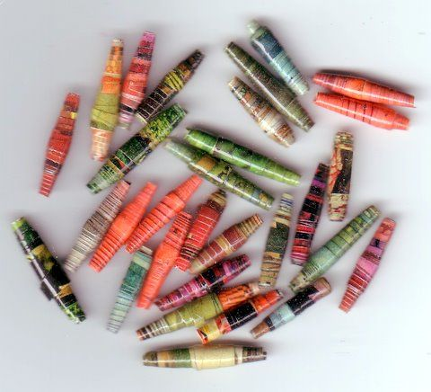 Handmade Recycled Paper Beads...    Please share as it helps tell people about recycling.