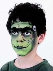 Resultado de imagen de maquillaje frankenstein para niños