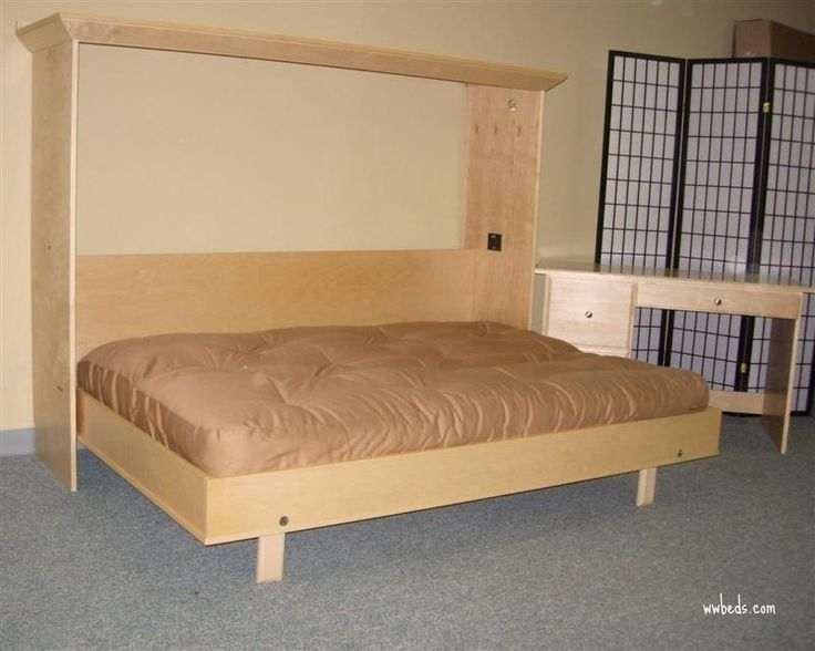 How To Build A Horizontal Murphy Bed PDF Plans built in storage ...