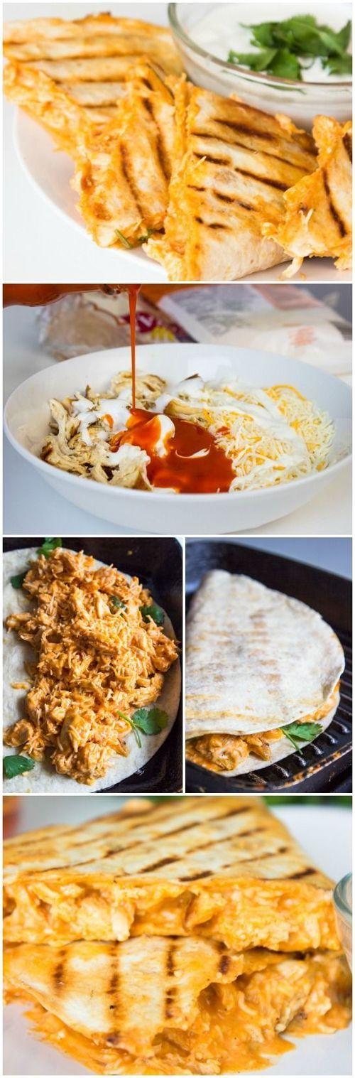 Buffalo Chicken Quesadillas Recipe / Buzz Inspired on imgfave