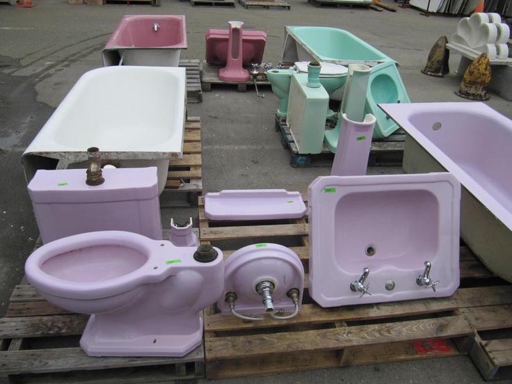Via Bklyn Contessa Via Ohmega Salvage Vintage Violet Tub Bathroom Setsbathroom Fixtureslight