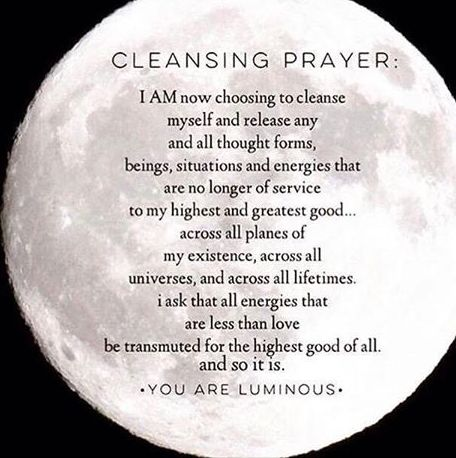 night prayer to cleanse and cut cords of negative energy