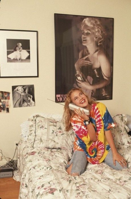 Drew Barrymore in her room, 1980s. Photo by Mark Sennett.