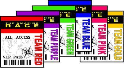Amazing race printable team badges...I'm on team pink : )