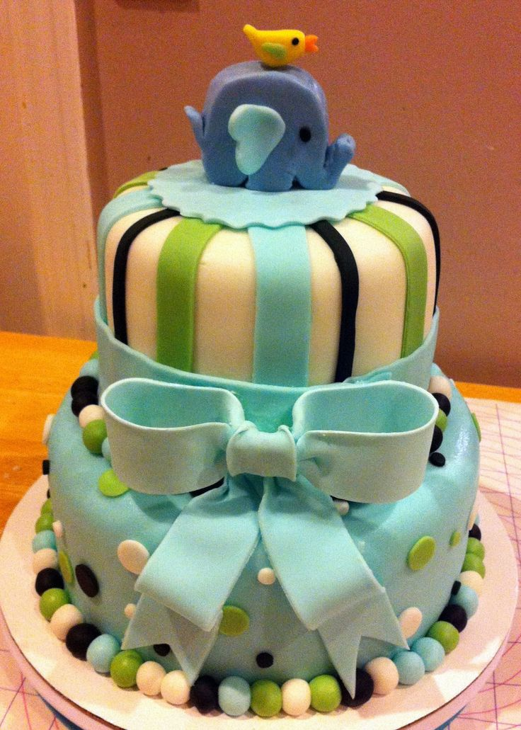 Elephant Baby Shower Cakes | Elephant Baby Shower Cake (by 3 Sweet Cakes)