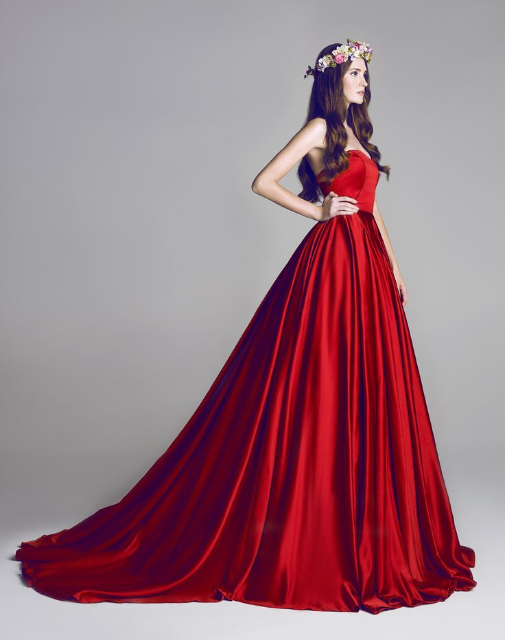 Stunning red couture #fashion www.finditforweddings.com