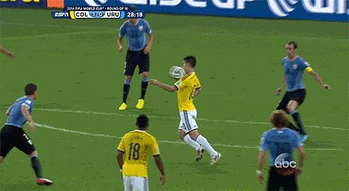 This Incredible Goal by Colombia's James Rodriguez: Source: ABC