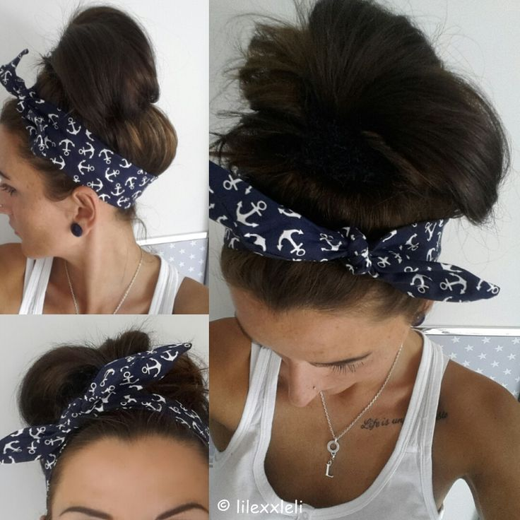 Hallöchen, ich habe wieder ein kleines Tutorial gemacht, dieses Haarband kann wirklich jeder nähen, der eine Nähmaschine zuhause hat. ...