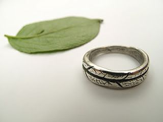 My first silver art clay ring.