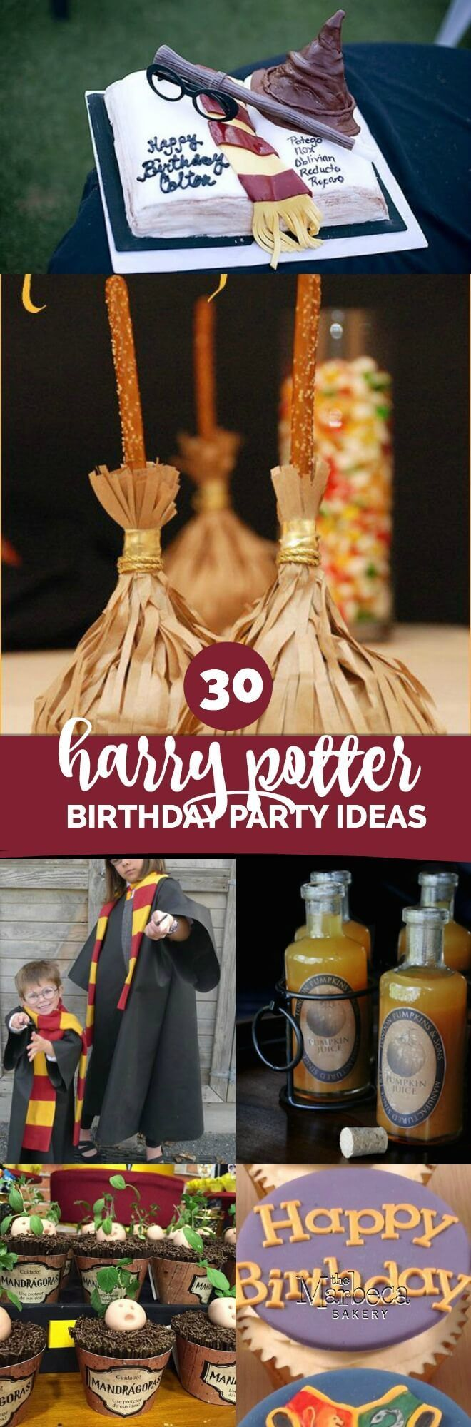 30 Magical Harry Potter Party Ideas, Make Your Kids Birthday Magical With These Ideas, Pin Today!