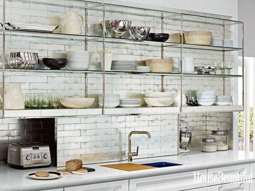 #Kitchen of the Month, October 2012. Design: Mick De Giulio. Open Kitchen Shelves