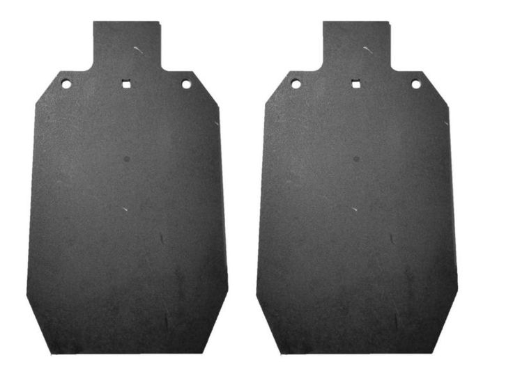 "(2) Two Laser Cut IDPA IPSC 2/3 AR500 12"" x 20"" / 3/8"" Shooting Targets Gong #ad"