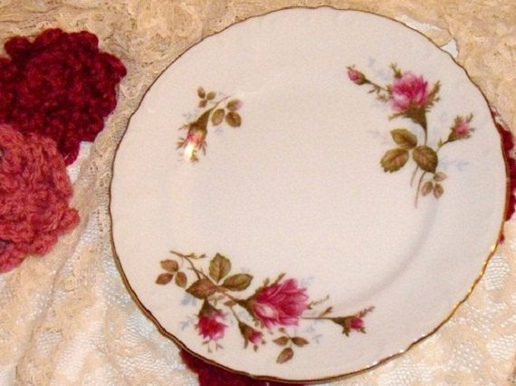 Vintage Royal Rose Fine China Japan Bread Plate by designfrills, $8.99