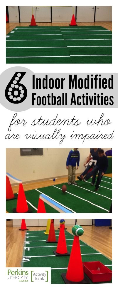 This adapted physical education activity is designed to make football accessible to students who are blind, visually impaired, deafblind or who have multiple disabilities.