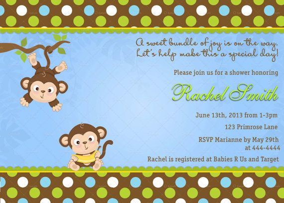 The 381 best stationary printables baby shower invitations images monkey boy baby shower invitation free thank you card printable blue brown jungle baby shower invite baby boy invitation safari filmwisefo