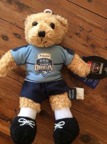 Beanie Bear State Of Origin Nsw Blues Nrl Brand New With Tags 22 Cm Tall