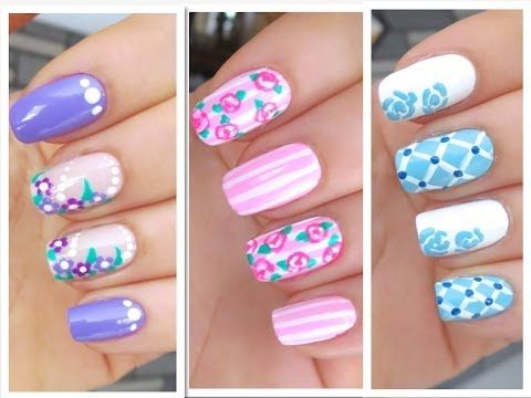 3 Cute Nail Art Designs for Spring/Summer