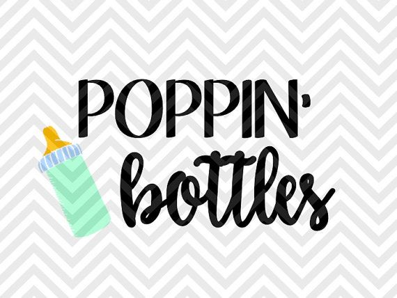 Poppin' Bottles Baby Crib nursery onesie SVG file - Cut File - Cricut projects - cricut ideas - cricut explore - silhouette cameo projects - Silhouette projects  by KristinAmandaDesigns