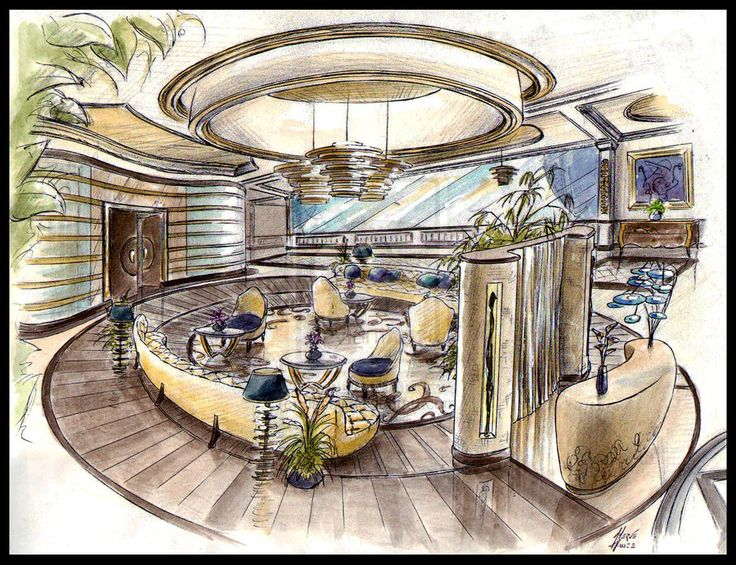 Clubhouse by dasajj on deviantart illustrated for Interior design drawing tips