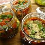 Parmigiana di zucchini in barattolo