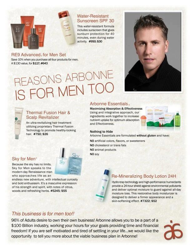 Reasons Arbonne is for Men too.  For more information, samples & to place an order use Consultant ID 441249698 https://www.arbonneinternational.co.uk/shop_online/shopOnline.asp