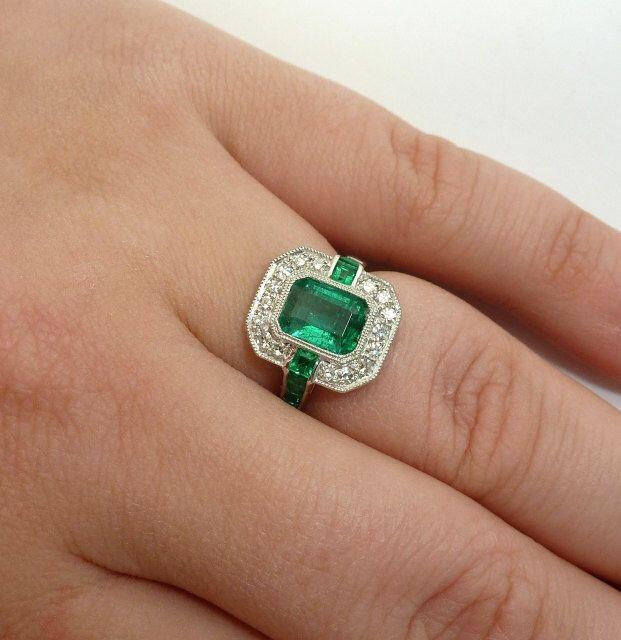 Engagement Rings Emerald Cut  Stone