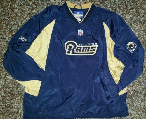 NFL Football St. Louis Rams Reebok Pullover Windbreaker Jacket ...