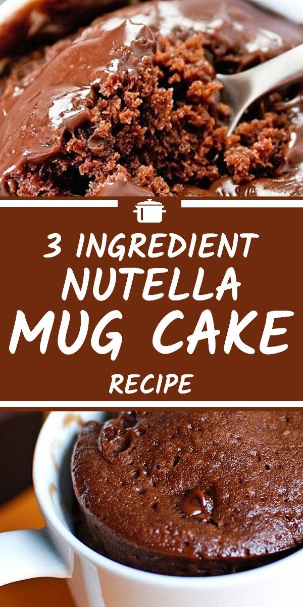 This Nutella mug cake recipe is simply delicious and only ...