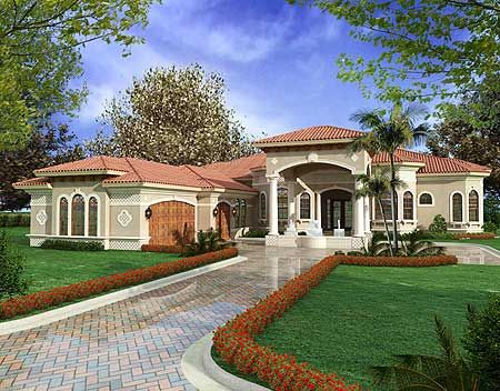 Best 25 one story houses ideas on pinterest for Florida mediterranean house plans