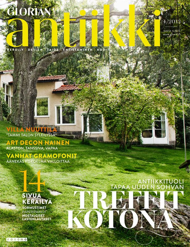 Magazine cover 4/2013. House from 1949 by Finnish architect Erik Bryggman. Photo Juha Huttunen.
