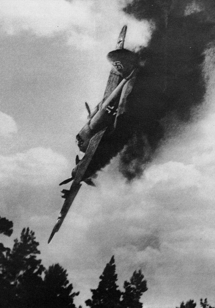 German Plane shot down