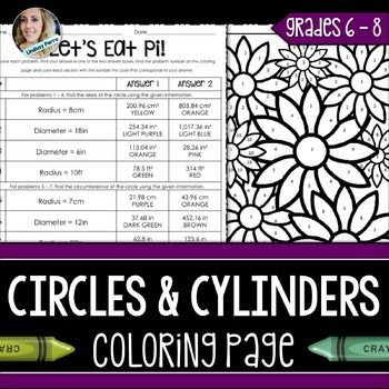 Circles and Cylinders : Area, Circumference and VolumeAbout this resource : This activity allows students to practice finding the area of circles, circumference of circles and volume of cylinders. It's a wonderful way to incorporate fun into the classroom!
