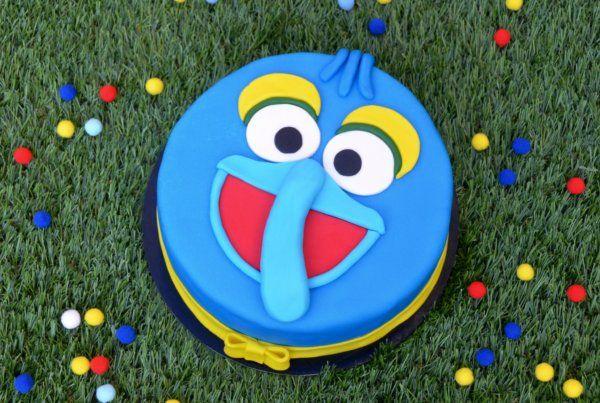 Tejmentes csokitorta - Gonzo torta Gonzo cake - Muppet Show cake