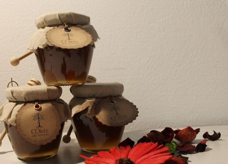 Anfora con miele e tag personalizzato, tema Signore degli Anelli