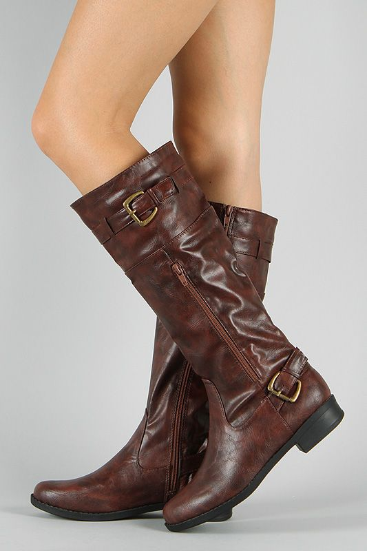 Bumper Freda-20 Zipper Buckle Riding Knee High Boot