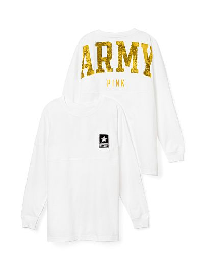 Army Bling Varsity Crew PINK
