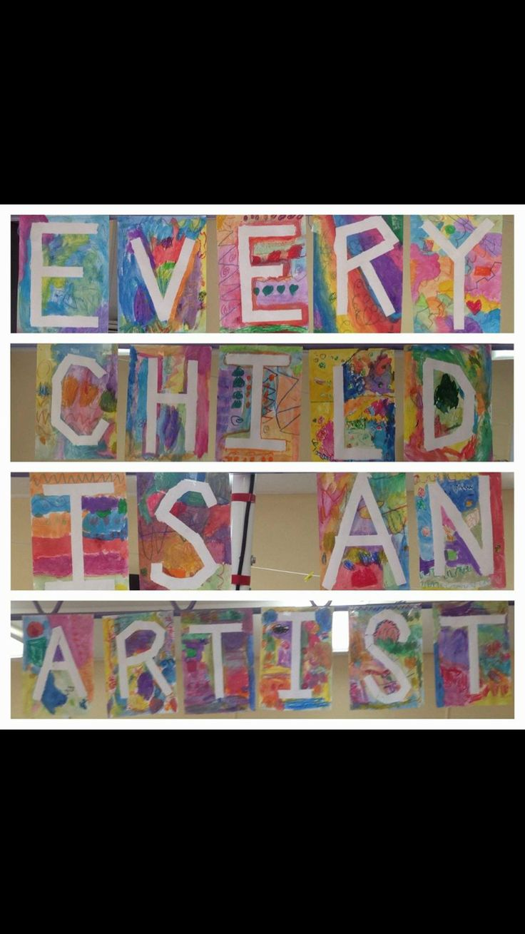 Grade F/1 used oil pastels and water colours over taped letters to create this quote. A little reminder for all students in class that they are all artists.