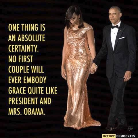 First Lady Michelle and President Barack Obama                                                                                                                                                                                 More