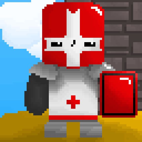 [OC] [NEWBIE] [CC] The red knight from Castle Crashers