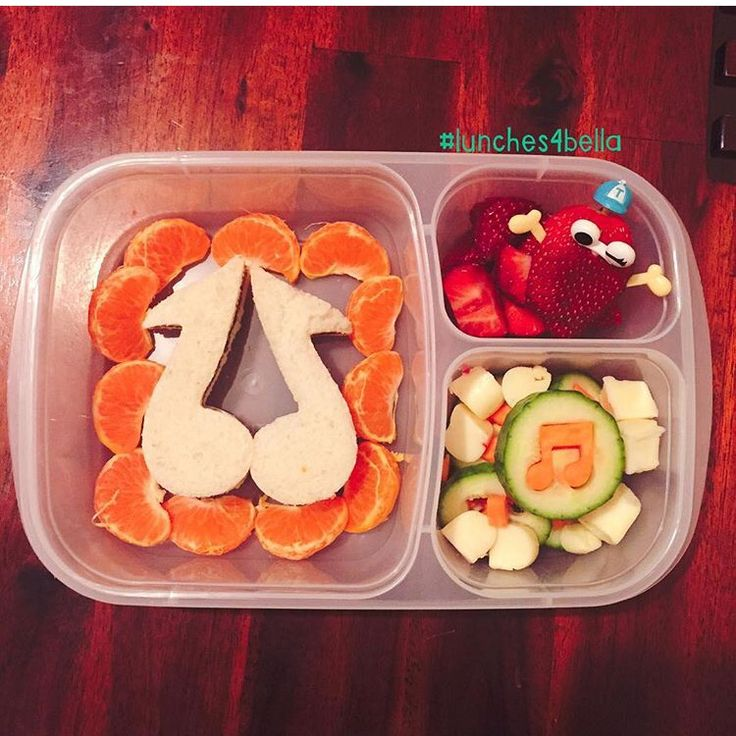 #lunches4bella musical themed bento lunch in Easy Lunchbox