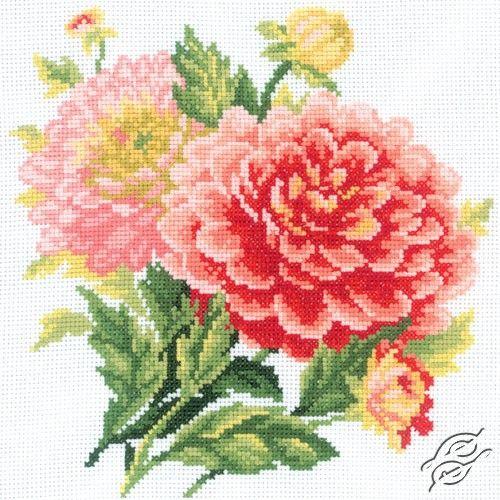 Dahlias - Cross Stitch Kits by RTO - M075