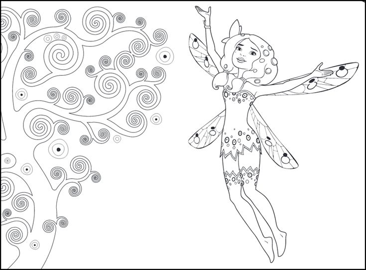 mia and me coloring pages  mandala malvorlagen