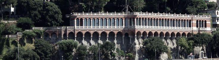 1890 GENOVA (GE) LOGGIATO di VILLA MYLIUS by  LUIGI REVELLI