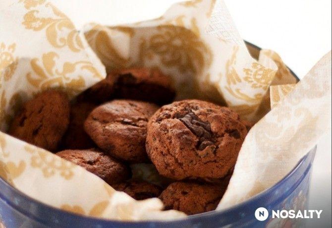 Csokis-aszalt gyümölcsös keksz