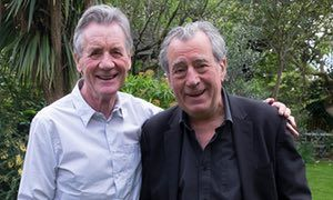 Old friends Michael Palin and Terry Jones, right, at Jones's home in London this month.
