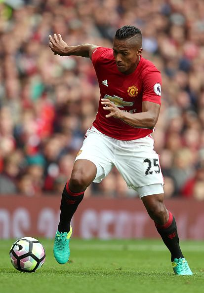 Antonio Valencia of Manchester United during the Premier League match between Manchester United and Leicester City at Old Trafford on September 24...