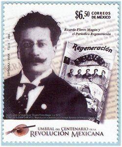 Ricardo Flores Magon and the newspaper Regeneration.