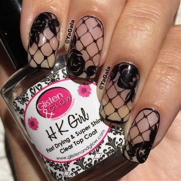 14 best Lace nail design images on Pinterest | Fingernail designs ...